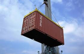 Container lift in Matadi Port, Democratic Republic of Congo